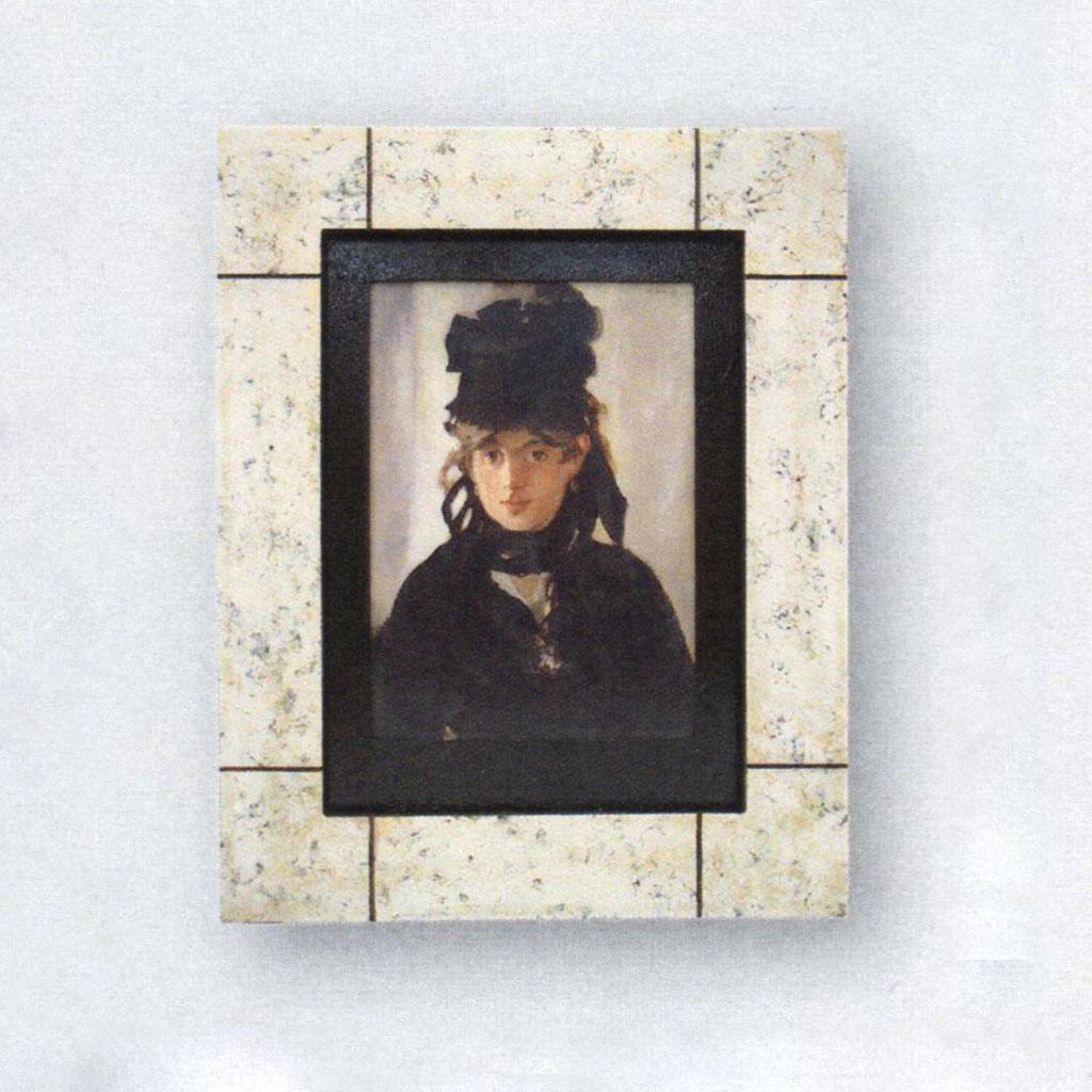 絵画 額入り ベルト・モリゾの肖像 マネ Manet ジェルメディウム加工 インテリア 壁 おしゃれ 壁掛け リビング 寝室 新築祝い 開業祝い 開店祝い