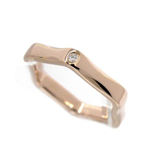 【新品同様】 TASAKI K18サクラゴールド ラベッロ ダイヤモンド リング D0.01【田崎真珠・SG750・labello・SAKURA・ピンク・宝石・ブランドジュエリー・指輪】