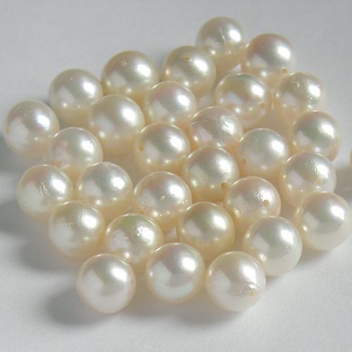 サービスプライス 天然 アコヤ真珠 ルース ばら売り 約7.0~7.5mm 両穴 貫通 流行のアイテム ホワイト~クリーム色系 パール 天然石 1粒販売 ネコポス配送 手芸材料 一個 素材 売却 中古