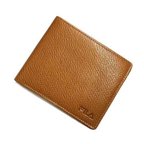 メンズ 財布 二つ折り ブラウン お洒落 ブランド フィラ 年末年始大決算 二つ折り財布 カード 茶色 ネコポス配送 中古 キャメル FILA 札入れ