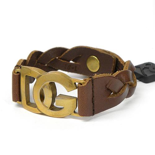 DOLCE&GABBANA ドルチェ&ガッバーナ レザーブレスレット BJ0289 A1656 80048 ブラウン ドルガバ ヴィンテージ メンズ ブランド 未使用品 質屋
