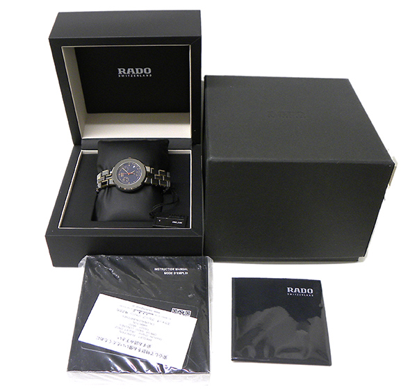 ラドー 腕時計 ダイヤスター R14471201【RADO・Diastar・腕時計・ネイビー文字盤・紺・クロノ・33mm・クォーツ・ブランド】【質屋出店】