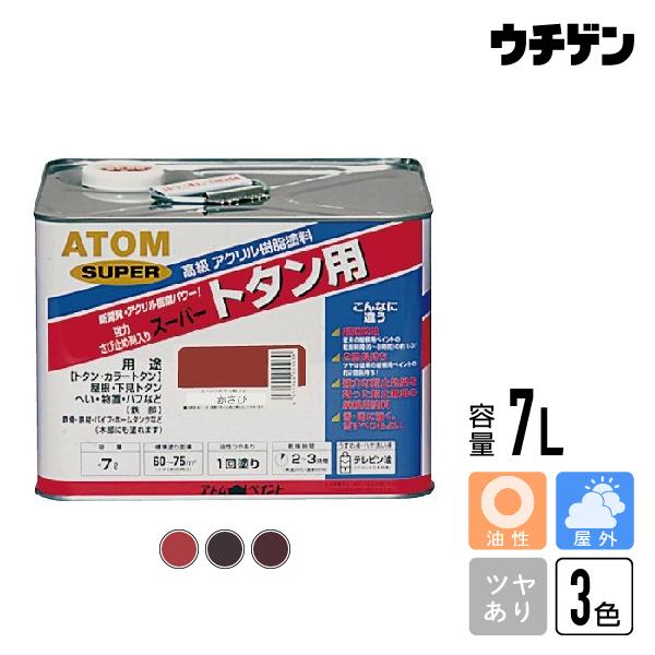 アトムハウスペイント スーパートタン用 赤さび(茶) チョコレート ニューブラウン 7L【送料込み】