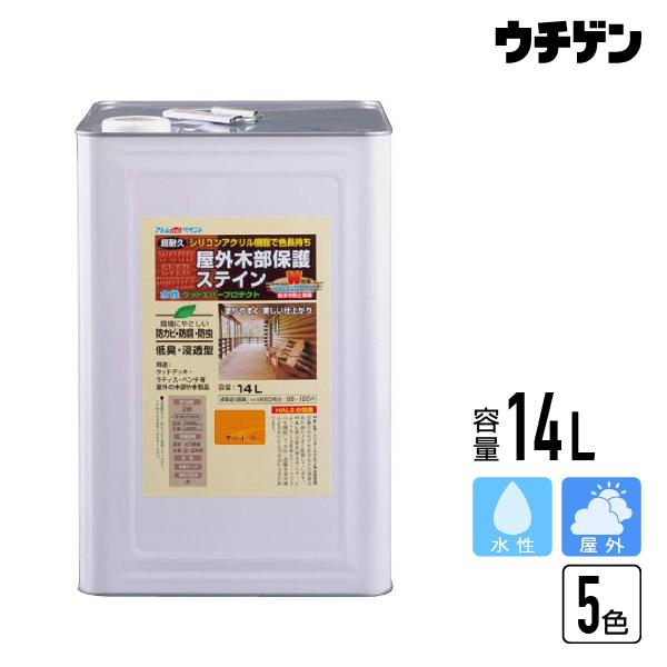 アトムハウスペイント ウッドエバープロテクト 14L【送料込み】