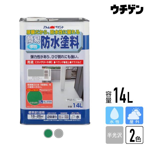 アトムハウスペイント 簡易防水塗料 14L【送料込み】