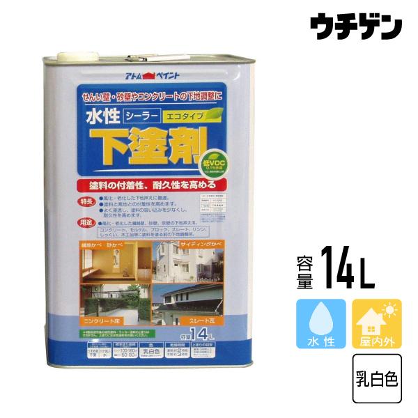 アトムハウスペイント 水性下塗剤 シーラー 14L 送料無料