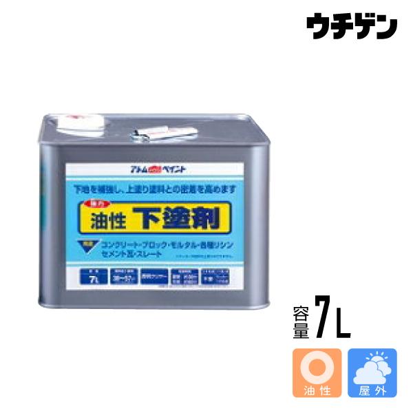アトムハウスペイント 油性下塗剤 7L【送料込み】