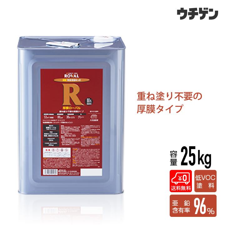 厚膜ローバル 25kg 厚膜 1回塗り 強噴射 塗る亜鉛めっき 溶融 さび止め 送料無料
