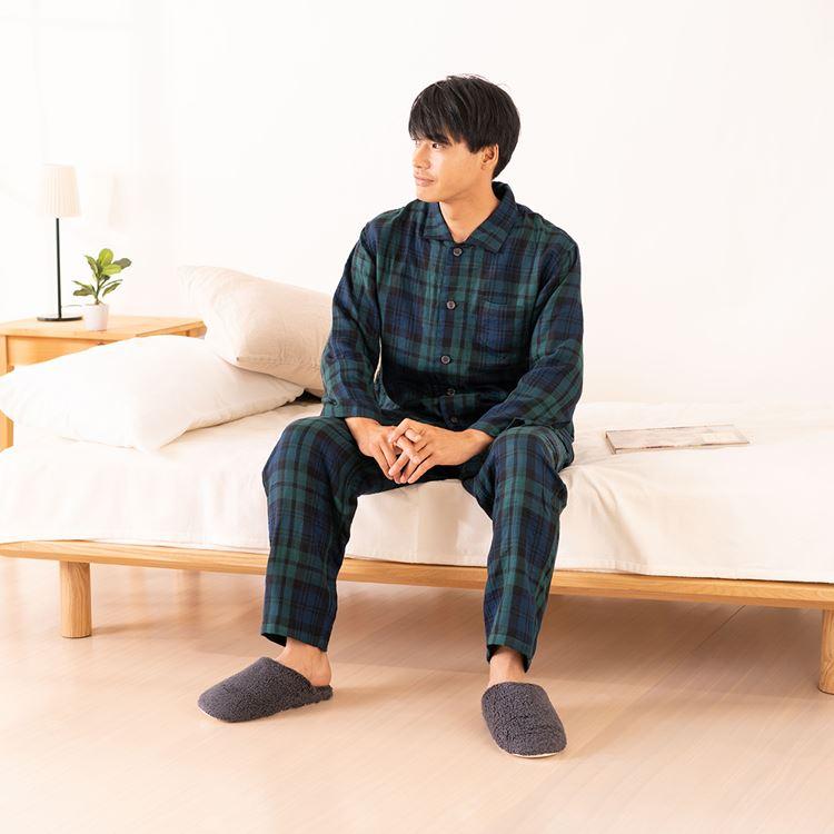 【送料無料】(内野)UCHINO マシュマロガーゼタータンチェックメンズパジャマ ギフト 贈り物 プレゼント