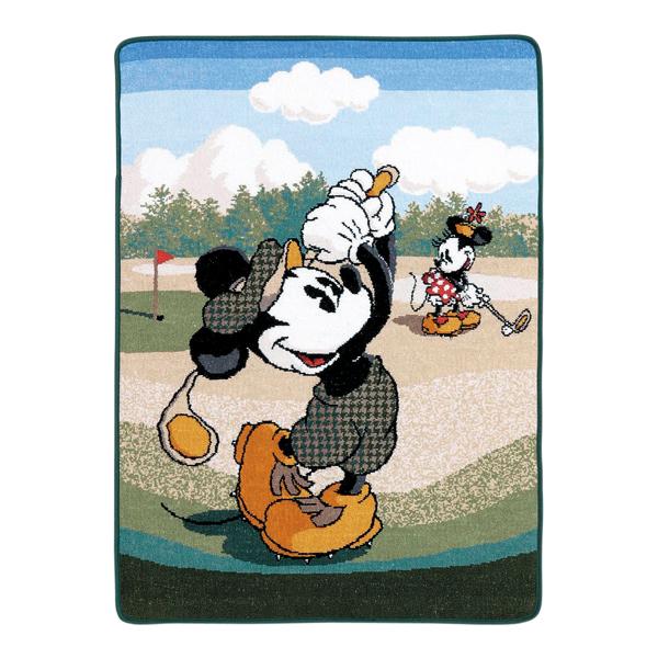 (送料無料)Disney(ディズニー)ミッキーマウス&ミニーマウスゴルフ バスタオル シェニール 約70×100cm ウチノ タオル【内野タオル】ギフト対応 贈り物 プレゼント 入園グッズ 入園祝い【D】