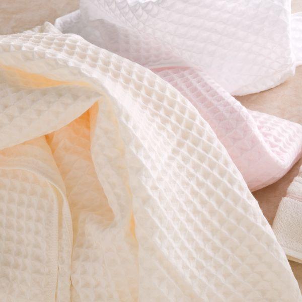 供支持中空线空气华夫饼干浴巾约70*140cm uchinotaorugyarariuchinotaorugifuto的礼品礼物自己使用