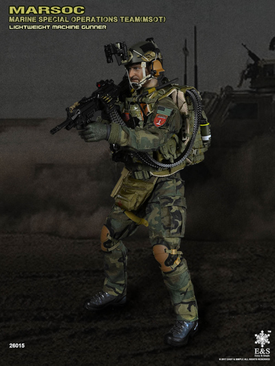 1//6 Scale MARSOC Lightweight Machine Gunner MSOT Sharpshooter Green Helmet Set