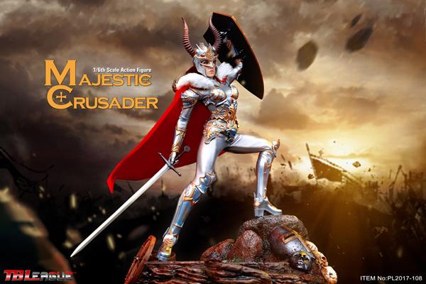 1//6 Scale TBLeague PL2017-108 Majestic Crusader 12/'/' Female Figure Hands Model