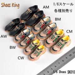 ShoesKing 1 6スケール シューズ ミニチュア SK010 スニーカー 6 マーケット 開店祝い Shoes King