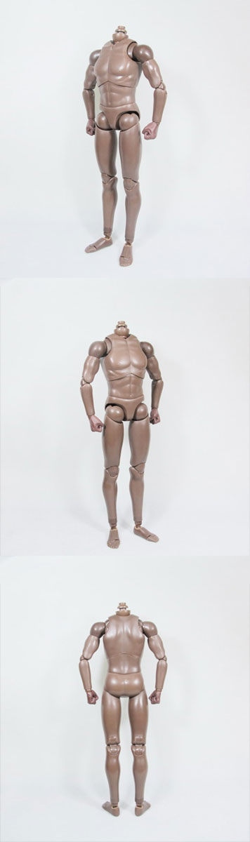 W08-03 1//6 Scale Action Figure Male Body Pale
