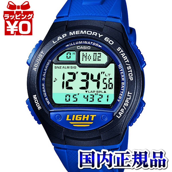W-734J-2AJF Casio SPORTS GEAR domestic genuine 10 ATM water resistant 10 year battery lap 60 watch watch WATCH sale type international warranty certificate with