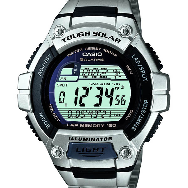 W-S220D-1AJF Casio when total domestic authorised 10 pressure waterproof solar LED light watch watch WATCH sale kind Christmas gifts