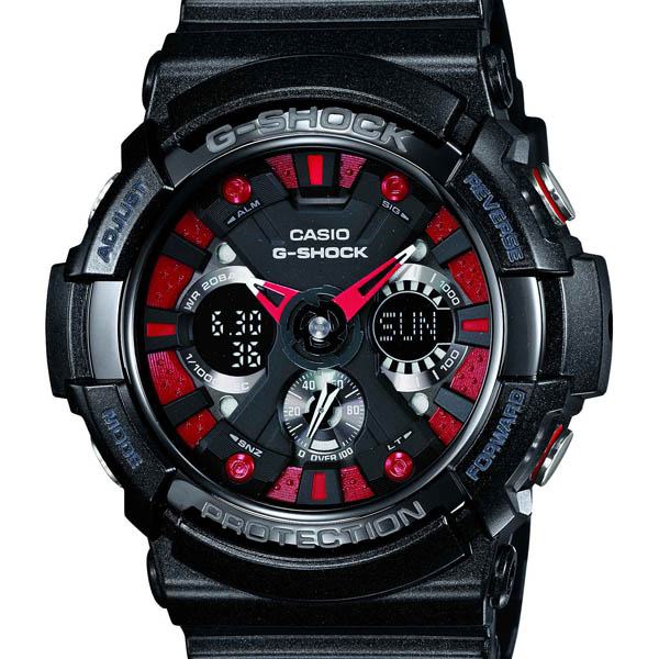 GA-200SH-1AJF アナデジメタリック CASIO Casio G-SHOCK ジーショック gshock G-Shock present ass leisure