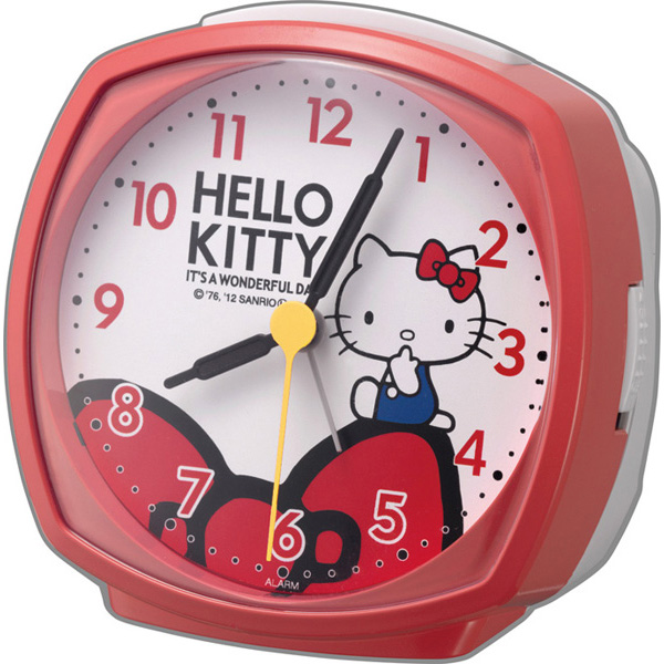 4RA478-M01 Hello Kitty R478 clock CITIZEN citizen Bell sound alarm step second hand