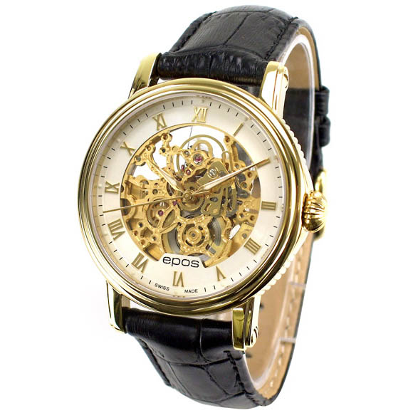 Sale kind present with the whole world /3390SKGPRWH ETA 2892-A2 EPOS エポスメンズ watch domestic regular article watch WATCH maker guarantee