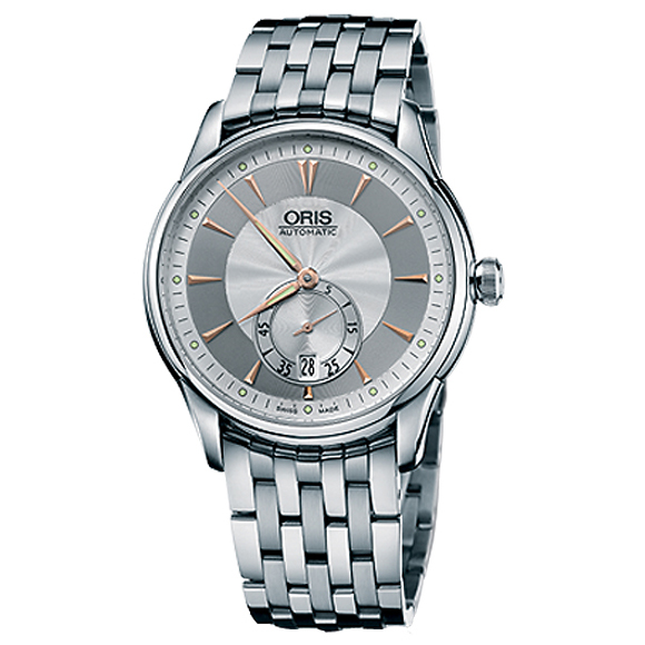 Sale kind present with the whole world / 62375824051M art Rie Small second date ORIS cages men watch watch watch WATCH maker guarantee