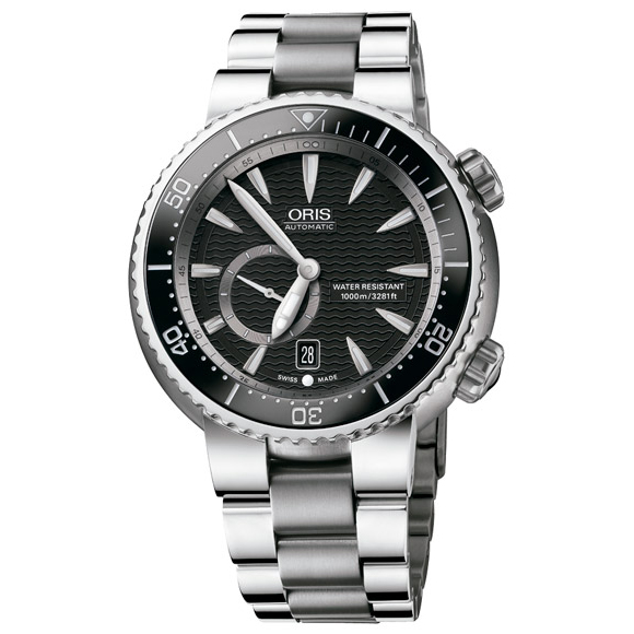 Sale kind present with the whole world / 64376387454M divers titanium 'C' Small second date ORIS cages men clock watch watch WATCH maker guarantee