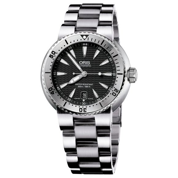 Sale kind present with the whole world / 73375334154M divers date ORIS cages men clock watch watch WATCH maker guarantee