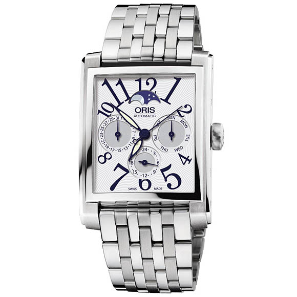 Sale kind present with the whole world / 58176584061M レクタンギュラーコンプリケーションホワイトダイヤルアラビックインデックス ORIS cages men watch watch watch WATCH maker guarantee