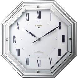 全世界送料無料/4MY836-005サイレントソーラールーチェ CITIZEN シチズン ソーラー電源電波掛時計(ソーラー電源+補助電池) 掛け時計 プレゼント フォーマル