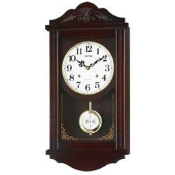 【エントリーでポイント5倍】4MJA01RH06アタッシュマンR RHYTHM リズム クォーツ柱時計(報時音4タイプ選択式) 掛け時計 送料無料 プレゼント