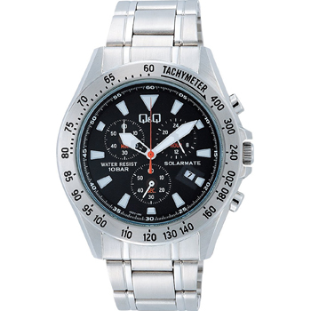 H022-202西鐵城居民Q&Q球桿和球桿SOLARMATE計時儀人手錶正規的物品郵費包含的禮物形式上