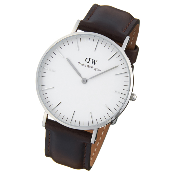 I take off Daniel Wellington watch DW spring stick, and Daniel Wellington silver classical music Bristol 36mm genuine leather leather belt man and woman ...