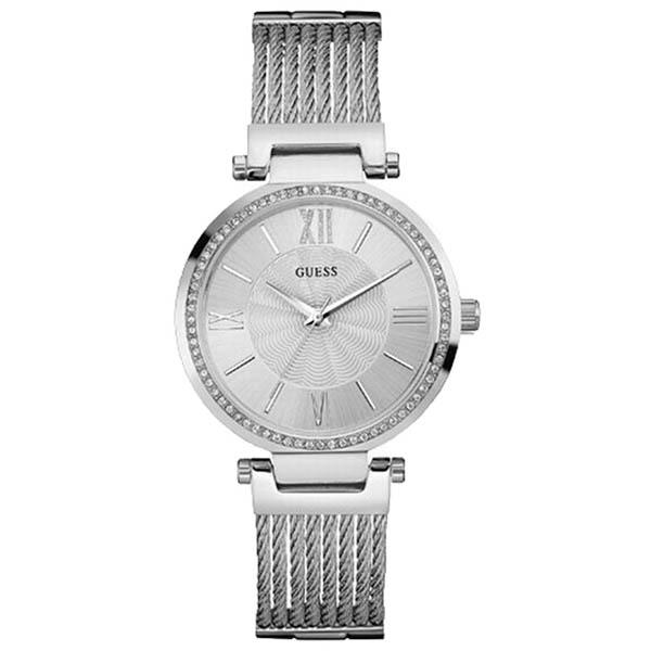 【クーポン利用で800円OFF】W0638L1 GUESS ゲス 腕時計 SOHO ソーホー レディース 白文字盤 ホワイト 白 おしゃれ かわいい