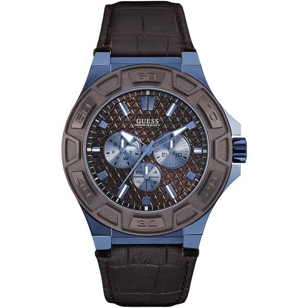【クーポン利用で1200円OFF】W0674G5 GUESS ゲス 腕時計 FORCE フォース メンズ 青文字盤 ブルー 青 プレゼント