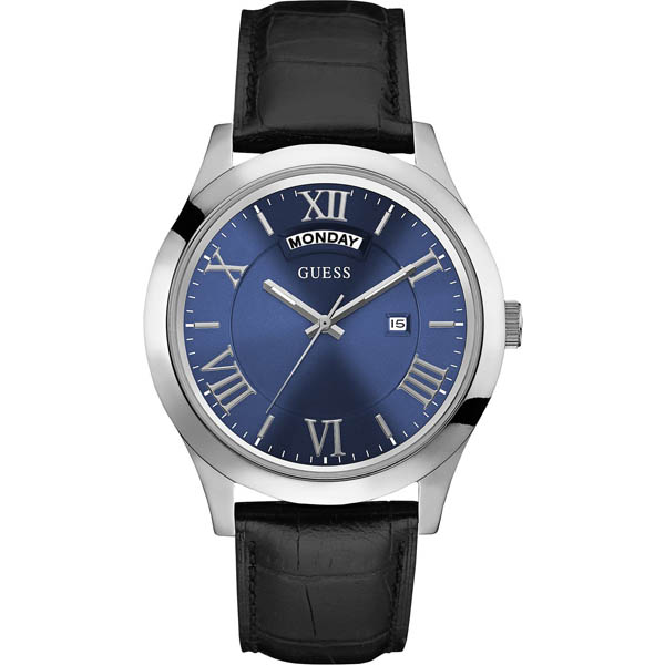 【クーポン利用で1000円OFF】W0792G1 GUESS ゲス 腕時計 METROPOLITAN メトロポリタン メンズ 青文字盤 ブルー 青 プレゼント