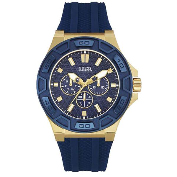 【クーポン利用で1200円OFF】W0674G2 GUESS ゲス 腕時計 FORCE フォース メンズ 青文字盤 ブルー 青 イエローゴールドコンビ プレゼント
