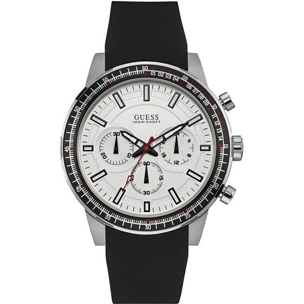 【クーポン利用で1000円OFF】W0802G1 GUESS ゲス 腕時計 FUEL フューエル メンズ 白 ホワイト 白文字盤 プレゼント