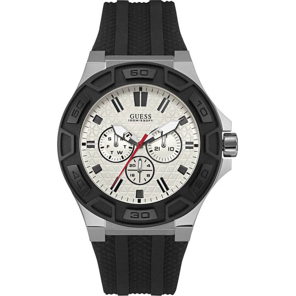 【クーポン利用で1000円OFF】W0674G3 GUESS ゲス 腕時計 FORCE フォース メンズ 白 ホワイト 白文字盤 プレゼント