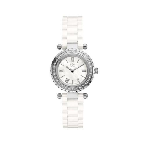 【クーポン利用で1000円OFF】X70124L1S GC ジーシー ゲスコレクション Mini Chic Precious アナログ ホワイトセラミック ラインストーン レディース 腕時計 国内正規品 送料無料