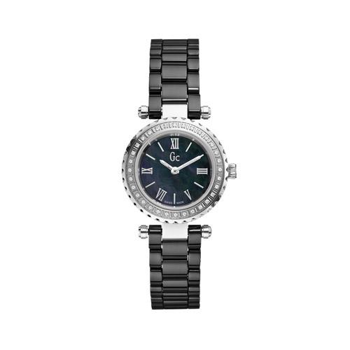 【クーポン利用で3000円OFF】X70125L2S GC ジーシー ゲスコレクション Mini Chic Precious アナログ ブラックセラミック 黒 ラインストーン レディース 腕時計 国内正規品 送料無料