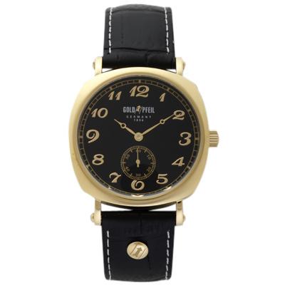 【クーポン利用で1200円OFF】G41002GB GOLD PFEIL ゴールドファイル ウォッチ G41002 Series イエローゴールド スモールセコンド 革バンド メンズ 腕時計 送料無料 送料込 プレゼント