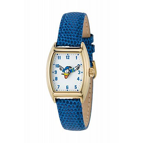 【クーポン利用で400円OFF】DND-SQUARE06-WH-BL Disny ディズニー MICKEY ROLLING ローリング ドナルド 革バンド アナログ トノー レディース腕時計 送料無料 送料込 おしゃれ かわいい