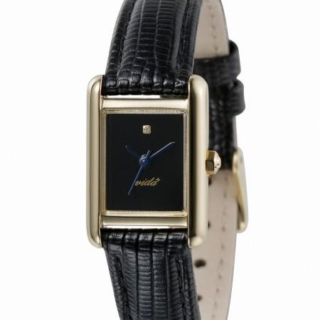 【クーポン利用で1000円OFF】S83917LE-BK VIDA+ ヴィーダプラス Mini Rectangular Pursuit ミニレクタンギュラー パスート レディース 腕時計 ポイント10倍 送料無料 おしゃれ かわいい