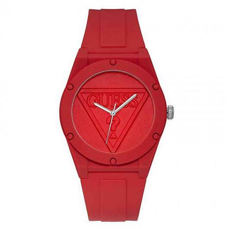 W0979L3 GUESS ゲス レッド 赤文字盤 アナログ クオーツ シリコンバンド レディース 腕時計 国内正規品 送料無料