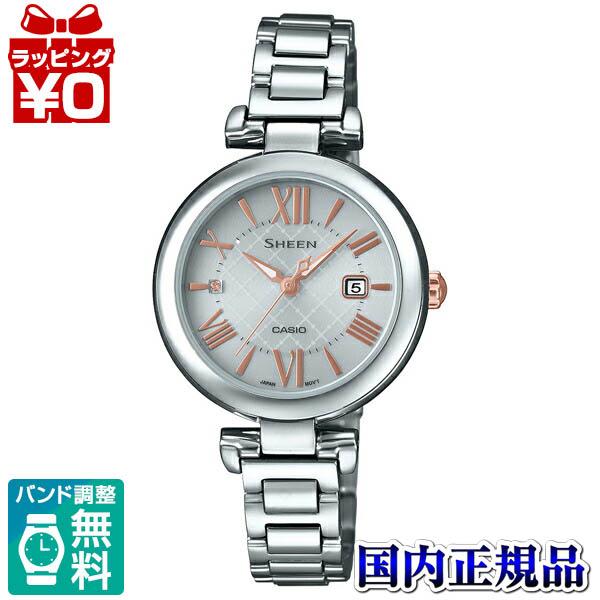 【クーポン利用で1000円OFF】SHS-4502D-7AJF SHEEN シーン CASIO カシオ スワロフスキー レディース 腕時計 国内正規品 送料無料