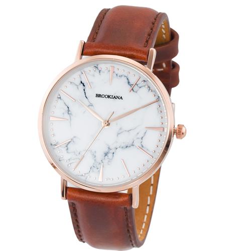 【クーポン利用で1000円OFF】BA3101-RSWLBR BROOKIANA ブルッキアーナ NEW MODEL BA3101 36mm ユニセックス 男女兼用 腕時計 国内正規品 送料無料