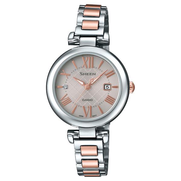 SHS-4502SPG-9AJF SHEEN シーン CASIO カシオ シングルリンク レディース 腕時計 国内正規品