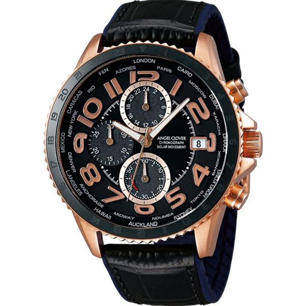 【クーポン利用で1200円OFF】MOS44PBK-BK Angel Clover エンジェルクローバー モンド ソーラー メンズ 腕時計 国内正規品 送料無料