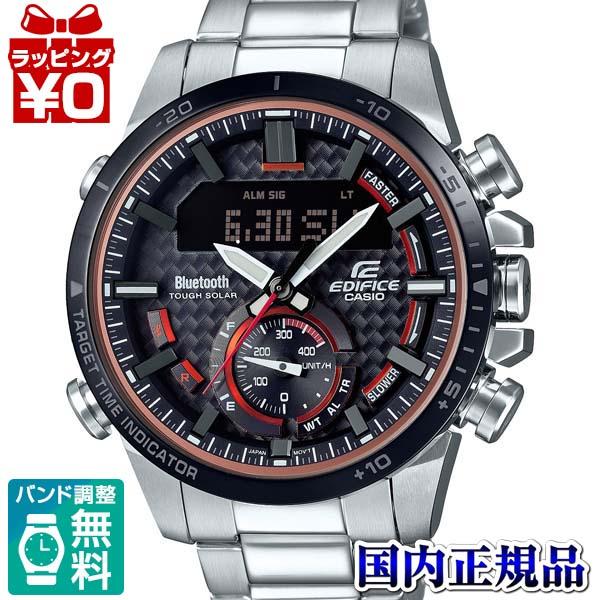 【クーポン利用で3000円OFF】ECB-800DB-1AJF EDIFICE エディフィス CASIO カシオ モータースポーツ 赤レッド メンズ 腕時計 国内正規品 送料無料