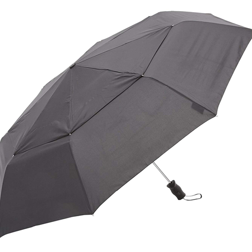 Cloth for canopy 100% of polyester bone material aluminum. A style Folding umbrella. An opening and shutting method ...  sc 1 st  Rakuten & net de udetokei wasshoimura: 7523 BLK TOTES ??? Vented Canopy ...
